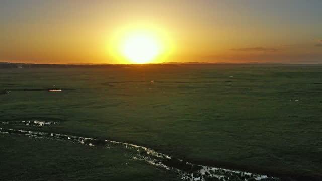 ルアンヘ川の源の航空写真、 - 川岸点の映像素材/bロール