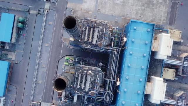 vídeos y material grabado en eventos de stock de planta de energía aérea - generadores