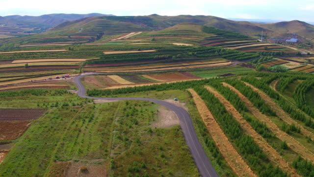 Aerial prairie highway video