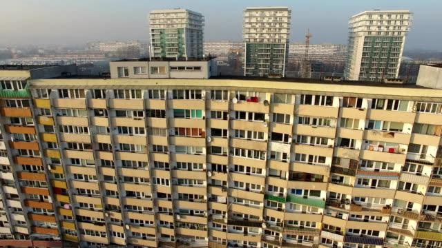 Aerial Revealing Shot of Residential Blocks