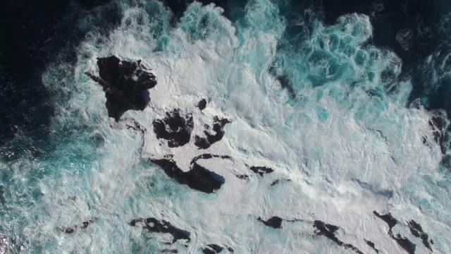 Aerial rough sea video