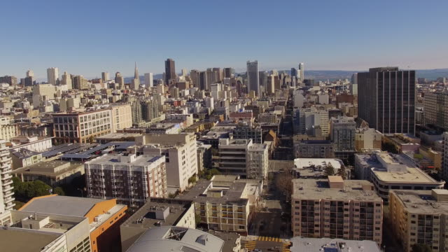 Aerial San Francisco Downtown Aerial San Francisco Downtown california map stock videos & royalty-free footage