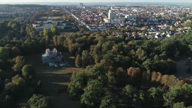 Aerial Schloss Favorite- pan right video