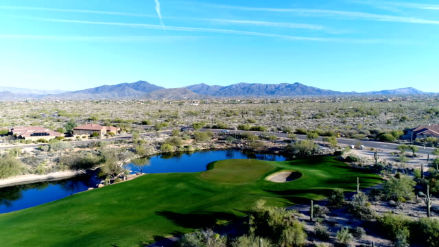 Aerial Scottsdale AZ Golf Course Yaw Right video