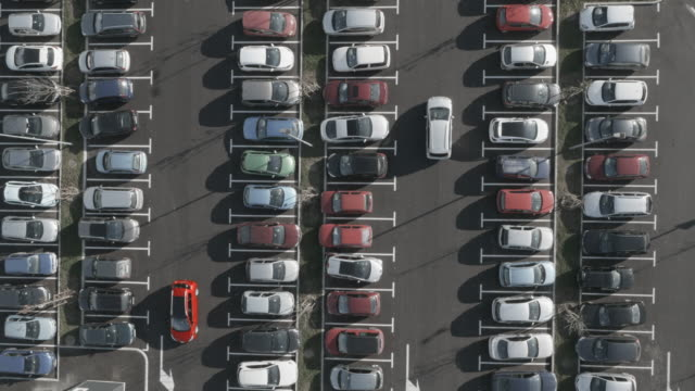 4K Aerial: Search for Free Parking Place video