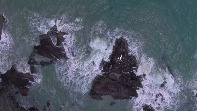 Aerial Serene of  Ocean Waves video