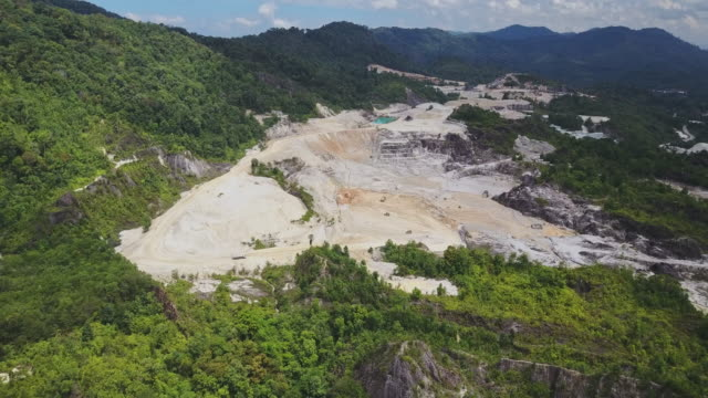 Aerial shoot of Ranong Canyon, Relax Place in Ranong Province, South of Thailand video