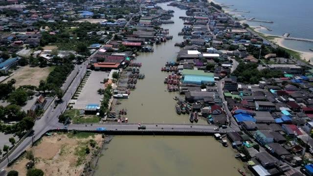 Aerial shoot: Rayong Estuary , Thailand video