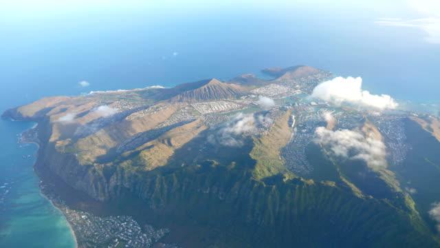 Aerial shot above Oahu Hawaii in 4k High quality video of aerial shot above Oahu Hawaii in 4k pacific islands stock videos & royalty-free footage