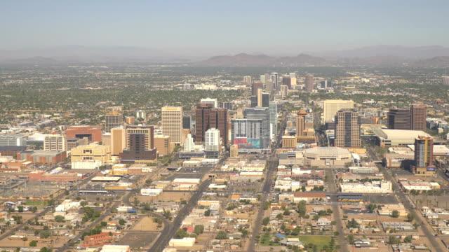 Aerial shot above Phoenix in 4k
