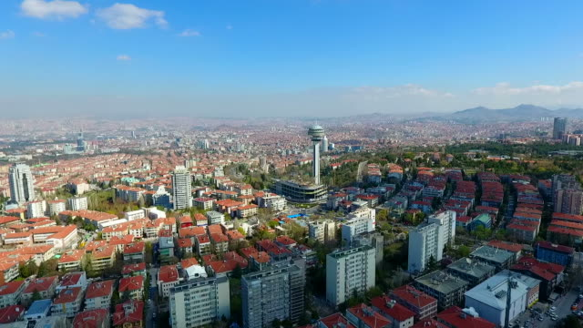 luftangriff auf ankara die hauptstadt der türkei - ankara türkei stock-videos und b-roll-filmmaterial
