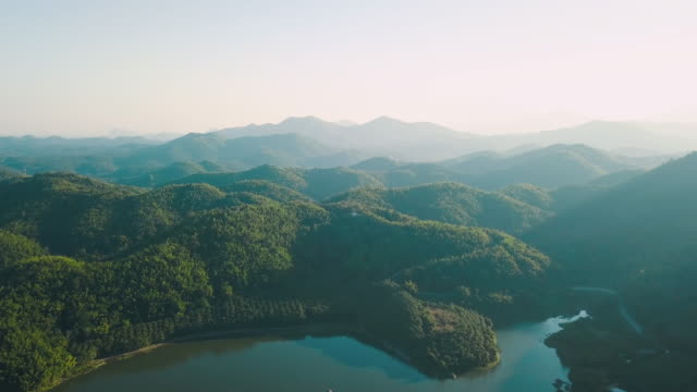 Aerial Shot : Beauty in nature at Loei Province, Thailand video
