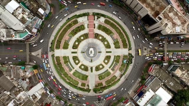 Aerial shot circle street video