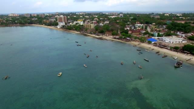 Aerial Shot: Dar Es Salam Msasani Bay Aerial Shot: Dar Es Salam Msasani Bay tanzania stock videos & royalty-free footage
