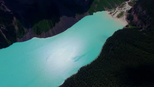 Aerial shot lake sunshine background video