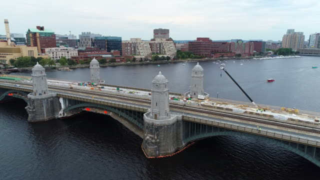 Aerial shot Longfellow Bridge video