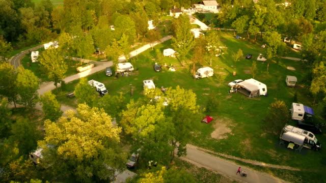 Aerial Shot Of A Campsite video