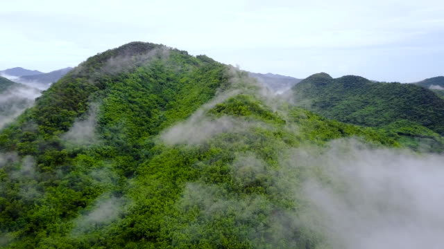 4k : aerial shot of a green valley at suan phueng in thailand - aerial mountain stock videos & royalty-free footage