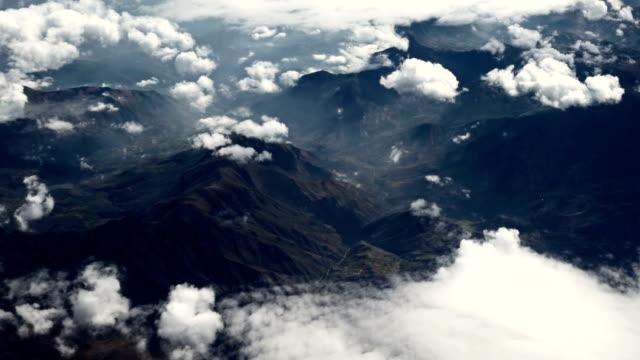 Aerial shot of a mountain range video