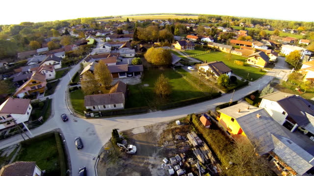 HD: Aerial Shot Of A Village video