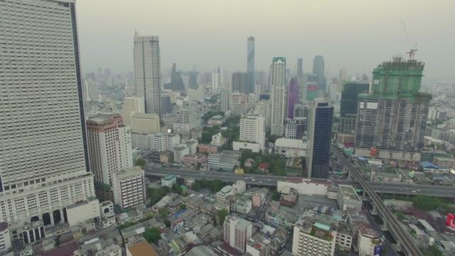 Aerial shot of Bangkok,Thailand video