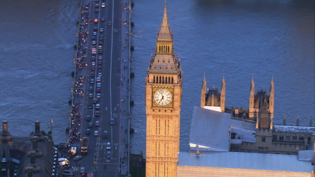 Aerial shot of Big Ben, London, UK video