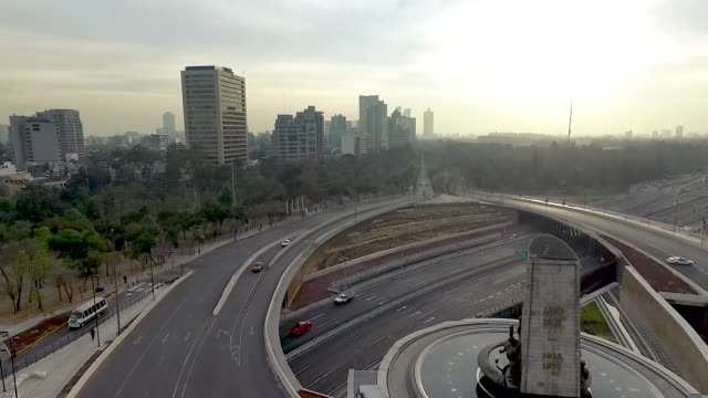 Aerial shot of cars in Mexico City Aerial shot of cars in Mexico City independence stock videos & royalty-free footage