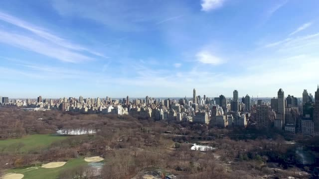 Aerial shot of Central Park, NYC Aerial shot of Central Park, NYC central park manhattan stock videos & royalty-free footage