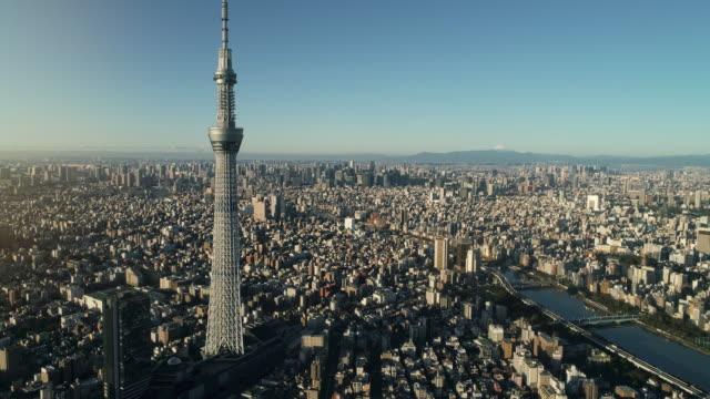 東京市中部の空撮 - 東京点の映像素材/bロール