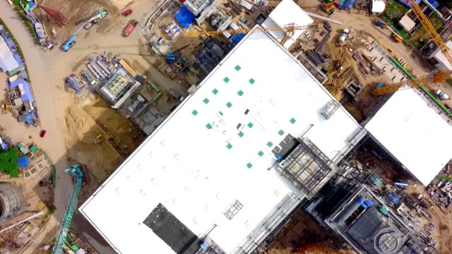 Aerial shot of construction site