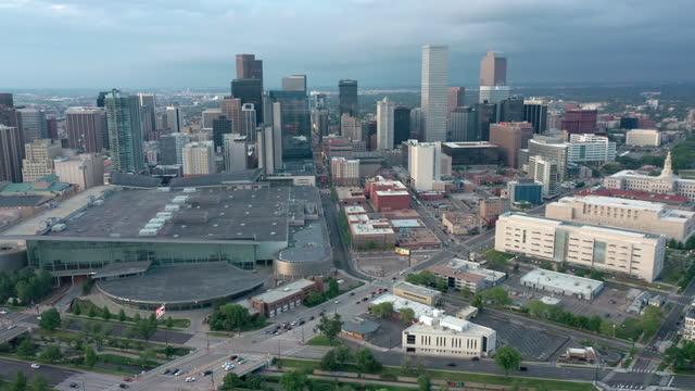 Aerial shot of Denver, Colorado