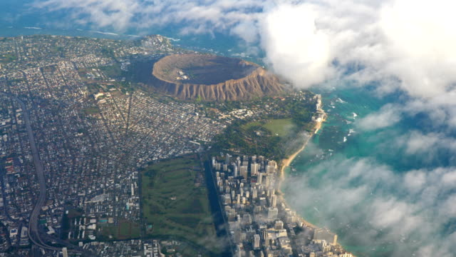 Aerial shot of Diamond Head and Waikiki beach at Oahu Hawaii in 4k High quality video of aerial shot of Diamond Head and Waikiki beach at Oahu Hawaii in 4k oahu stock videos & royalty-free footage