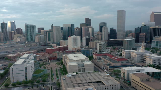 Aerial shot of downtown Denver, Colorado