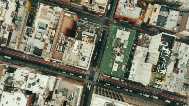 Aerial shot of empty streets in SoHo, New York City. Aerial shot of empty streets in SoHo, New York City. district stock videos & royalty-free footage