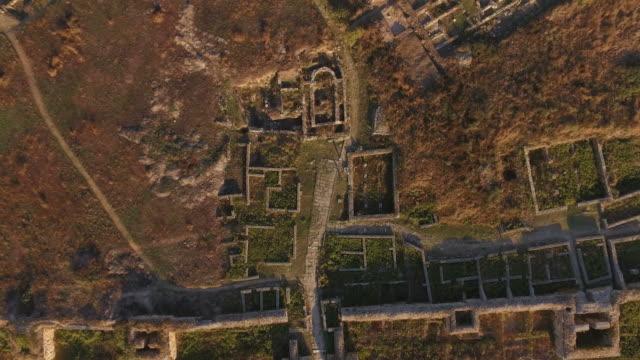 4k Aerial Shot Of Histria The Oldest Urban Settlement On