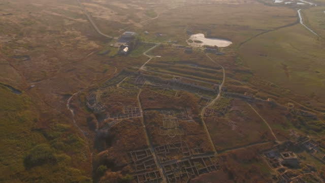 4K Aerial Shot Of Histria – the oldest urban settlement on Romanian territory (657 BC) video
