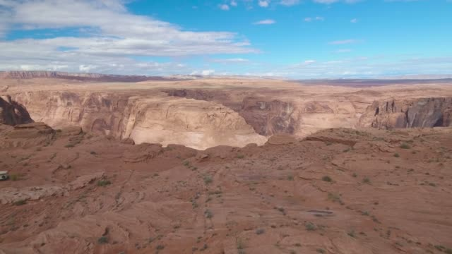 Aerial shot of Horseshoe Bend and Colorado river - Arizona,  United States