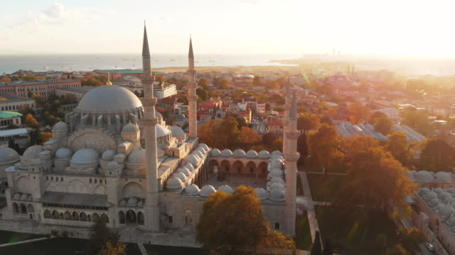 vídeos de stock e filmes b-roll de aerial shot of istanbul city, turkey - istambul