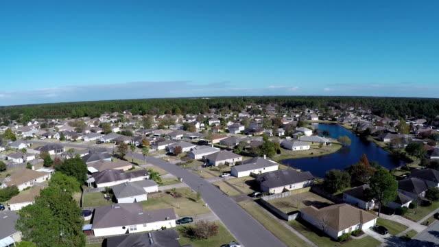 Aerial shot of Jacksonville neighborhood video