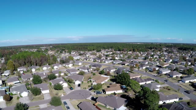 Aerial shot of Jacksonville neighborhood video