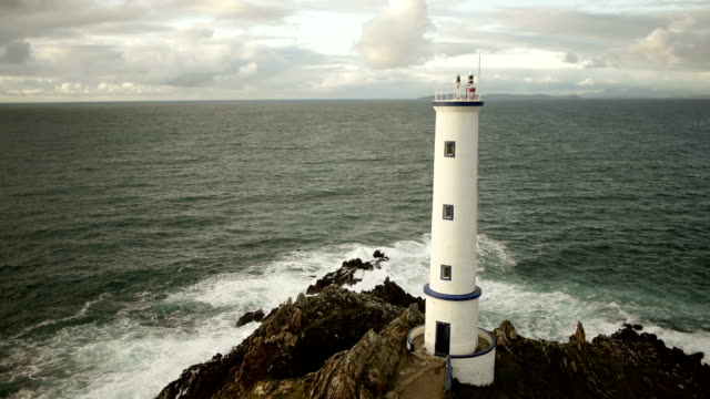 Aerial shot of lighthouse video