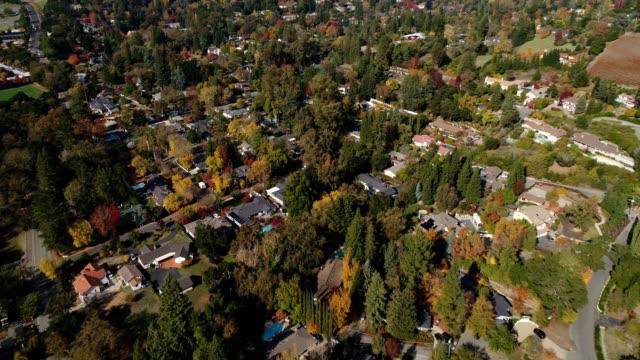 Aerial shot of Northern California Neighborhood video
