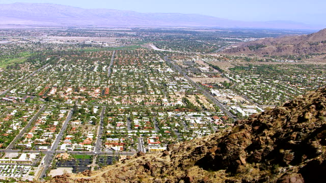 Aerial shot of Palm Springs California video