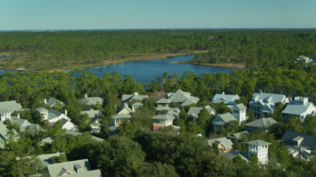 Aerial Shot of Picturesque WaterColor, Florida video