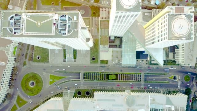 Luftaufnahme von Straße in Santa Fe, Mexiko-Stadt – Video