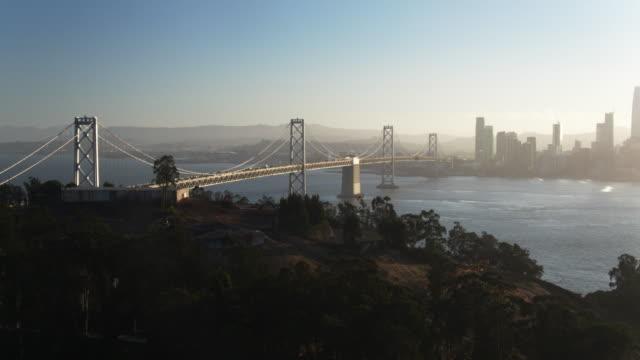 Aerial Shot of San Francisco and the Bay Bridge from Yerba Buena Island video