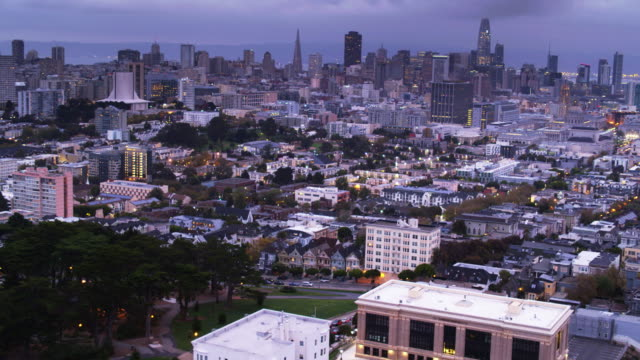 Aerial Shot of San Francisco from Alamo Square video