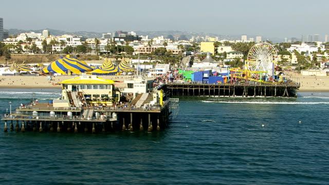 Aerial shot of Santa Monica Pier video