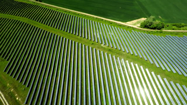 Aerial shot of Solar Power Station video