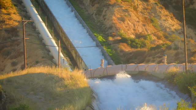 Aerial shot of some of the aqueducts that helps supply water to Los Angeles. Aerial shot of some of the aqueducts that helps supply water to Los Angeles. aqueduct stock videos & royalty-free footage